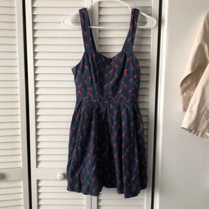 Red and blue giraffe dress from Urban Outfitters